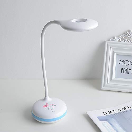 Lampada da comodino per camera da letto a carica notturna pieghevole per lampada da tavolo a lettura a occhio semplice a led 8037-2 blu 8,8 * 8,8 * 44 cm