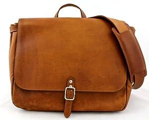 Bolso bandolera de piel LE POSTIER (M), estilo vintage y retro, bolso a mano, bolso bandolera, color marrón