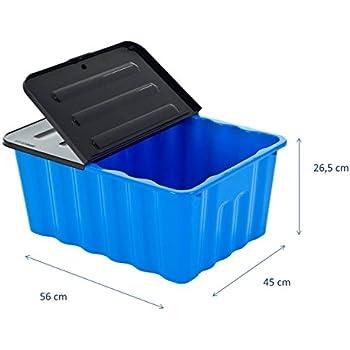Kunststoffbox mit abnehmbarem und klappbarem Deckel - 70