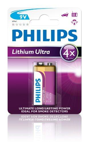 Philips 6FR61LB1A Lithium 9 V Batterie