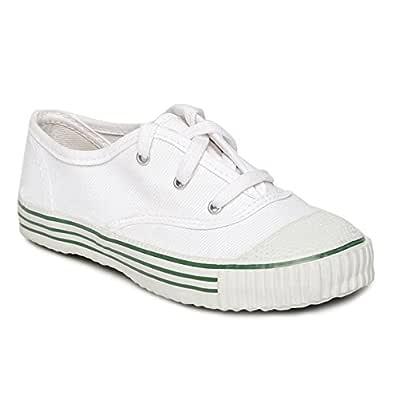 PARAGON Unisex's White Sneakers-9 Kids UK/India (27 EU) (CA0001C)