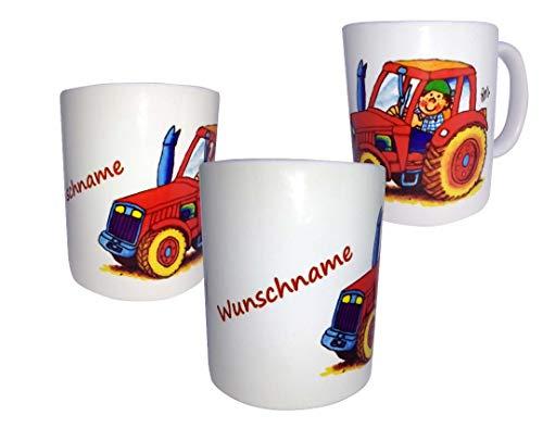 Lutz Mauder Traktor Tasse -personalisiert mit Name- Trinkbecher, Becher - Traktor-becher