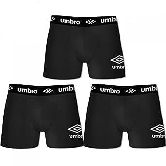 Umbro - Boxers Homme Noir Lot X 3 - Taille S