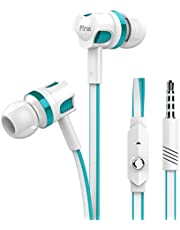 pTron HBE5 Raptor in-Ear Stereo Wired Headphones with Mic - (White and Blue)