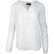 Zwillingsherz Bluse Damen mit Flamingo - Sommer Oberteile - Hochwertige  schöne und luftige Tunika Chiffon 9080aae66c