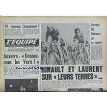 EQUIPE (L') [No 10553] du 17/04/1980 - XV DE FRANCE - SARONNI LES TROUVERA SUR SA ROUTE - AUXERRE - LES VERTS - HINAULT ET LAURENT.