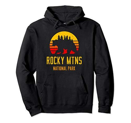 Geschenk für Outdoorsman - Rocky Mountains National Park Pullover Hoodie -