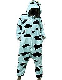 r-dessous Damen Herren Kuh Kostüm Tier Cosplay Anime Schlafanzug Pyjama Motto Party Karneval Jumpsuit Plüsch