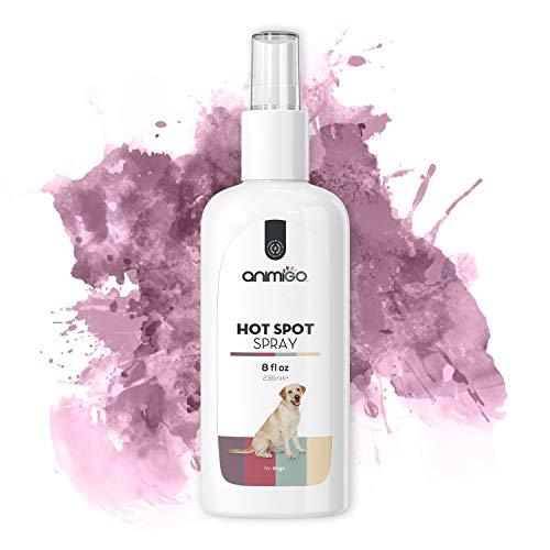 Animigo Hot Spot Spray für Hunde | Haut- & Fellpflege | Mittel gegen Juckreiz bei Hunden | Gegen Juckreiz & Irritationen | Hot Spot Hunde | Gegen Juckreiz für Hunde | 236 ml -