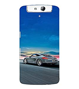 EPICCASE Porsche car Mobile Back Case Cover For OPPO N1 (Designer Case)