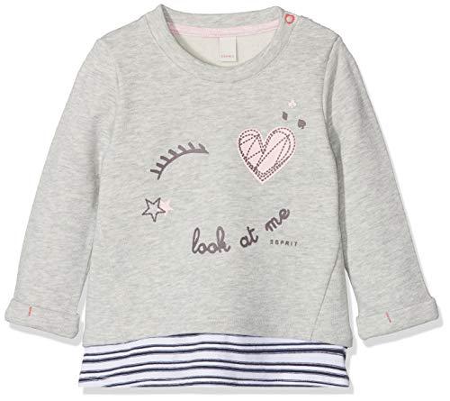 ESPRIT KIDS Baby-Mädchen RM1500107 Sweatshirt, Grau (Heather Grey 203), 80