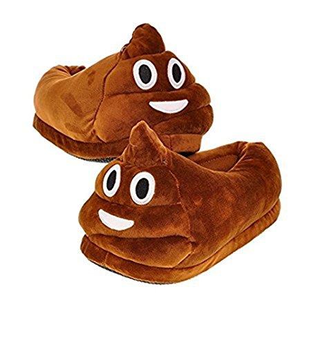 HMMJ Cartoon peluche Slipper Espressione pantofole, Inverno Caldo Casa antiscivolo Scarpe Unisex (Cacca)