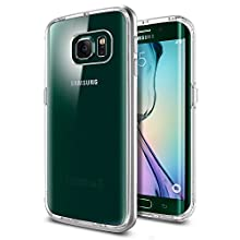 Spigen Neo Hybrid CC Galaxy S6 Edge Case with Flexible Inner Casing and Reinforced Hard Bumper Frame for Galaxy S6 Edge 2015 - Satin Silver