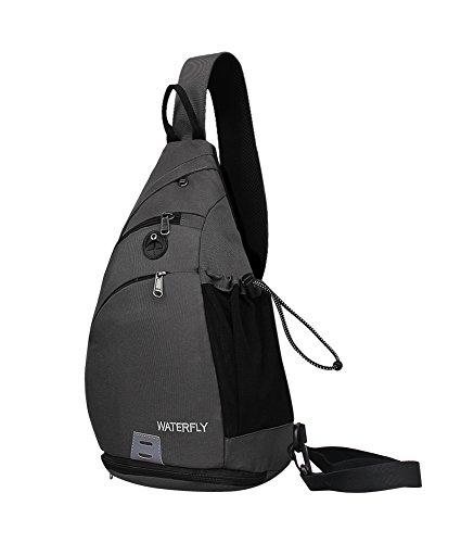 WATERFLY Sling Rucksack Sling Bag Schulterrucksack Umhängetasche Crossbag Kamerarucksack mit verstellbarem Schultergurt Perfekt für Outdoorsport, Wandern, Radfahren, Bergsteigen, Reisen -