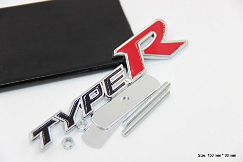 B175 Type R Kühlergrill vorn Emblem Zeichen Badge Car Sticker Abziehbild Frontgrill - Emblem Badge