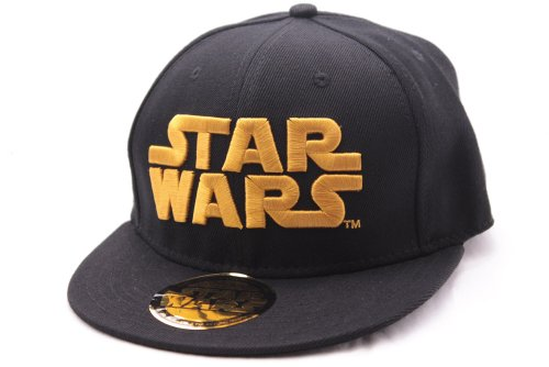 Star Wars - Baseball Cap Kappe - Golden Logo (Schwarz)