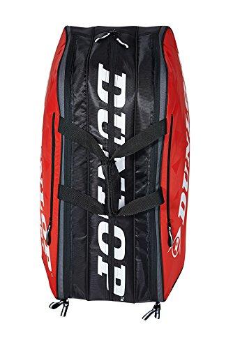 Dunlop Unisex Schlägertaschen Tour 10 Racket Bag Tennistasche Rot