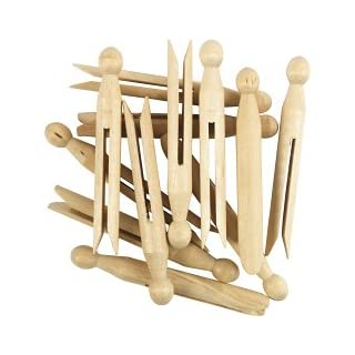 SupaHome Wooden Dolly Pegs Pack of 24
