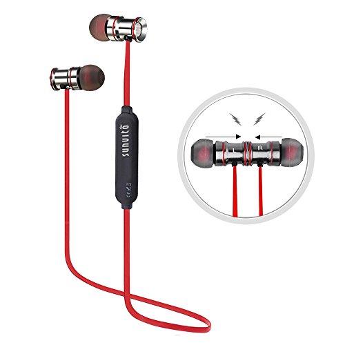 Auriculares-Inalmbricos-de-DeportesSunvito-41-Magntico-Auriculares-In-Ear-Manos-Libres-con-Bluetooth-con-Micrfono-Prueba-de-Sudor-y-Diseo-Ergonmico-Negro-rojo