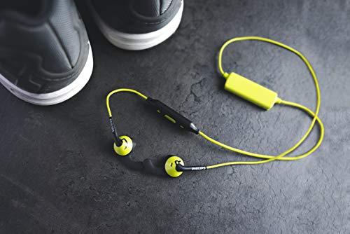 Philips SHQ6500CL/00 ActionFit Ohrstöpsel Bluetooth Sportkopfhörer mit kabelloser Musik/Anrufe grün/schwarz - 4