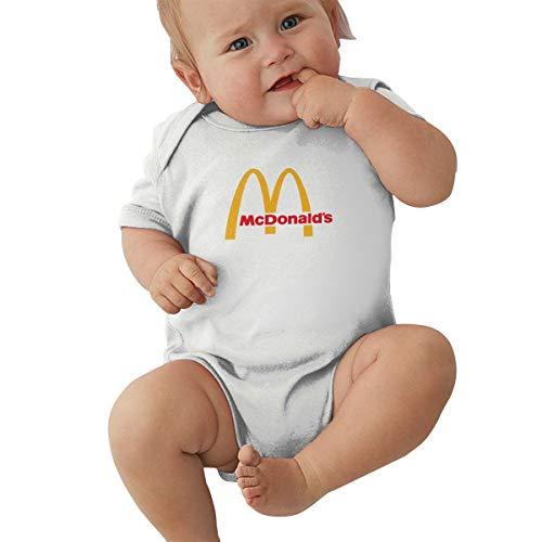 Kinder Baby Mädchen Jungen Sommer Bodys T-Shirt McDonalds T Shirt Shirts Für Kleinkind Mädchen Jungen Kurzhülse Weiß 12 Mt Yellow Footed Sleeper