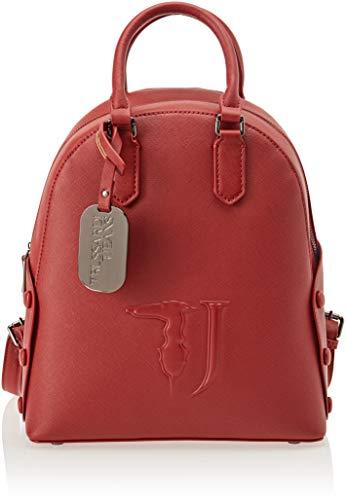 Trussardi Jeans Melissa Backpack Ecoleather Co, Zaino Donna, Rosso (Bordeaux On Tone), 26.5x30x11 cm (W x H x L)
