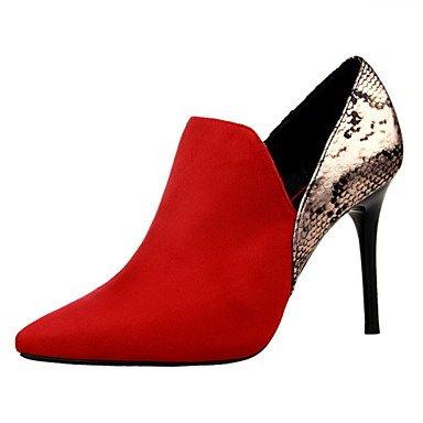 Moda Donna Sandali Sexy donna tacchi Primavera / Estate / Autunno vello piattaforma Party & Sera / Casual Stiletto Heel nero / rosso / grigio chiaro / mandorla / Burgundy / kaki Red
