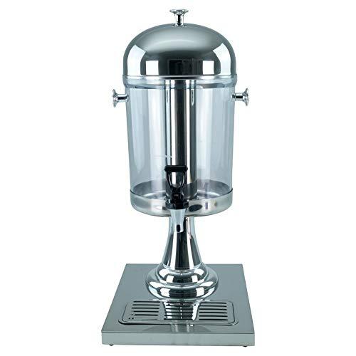 Saft-Dispenser Getränkedispenser Saftspender 1 x 8 Liter mit Kühlelement - silber