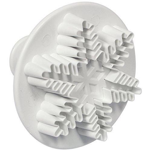 PME SF707 Emporte Pièce à Poussoir Flocon de Neige, Plastique, Blanc, 9.5 x 2 x 9.5 cmSF707