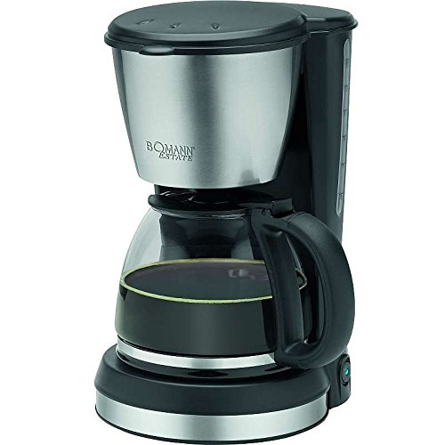 Edelstahl Kaffeemaschine Glaskanne 1,5 Liter Wasserstandsanzeige Kaffeeautomat 12 Tassen...
