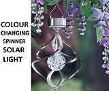 BRANDNEUE GARDEN FARBWECHSEL SOLAR SATURN WINDSPIEL MIT LICHT SOLARBELEUCHTUNG