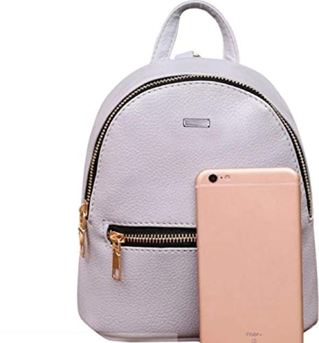 Best mini backpacks for girls in India 2020 JSPM® PU Leather Mini Backpack School Bag Student Backpack Women Travel bag Tuition Bag Backpack (Gray-SP-0341) Image 6