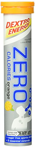 Dextro Energy ZERO Calories Orange / Zuckerfreies Fitness-Getränk in Brausetabletten-Form mit 5 Elektrolyten & ohne Kalorien für Kraft-, Leistungs- & Ausdauersportler / 12 x 20 Brause-Tabletten
