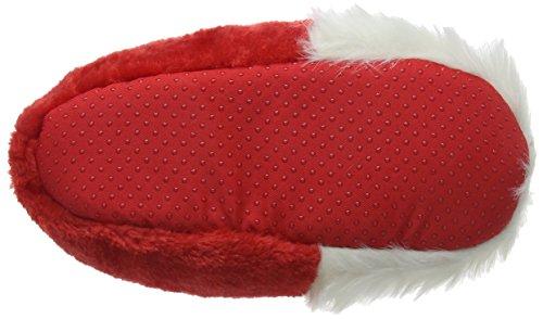 Eaze Damen Santa Slipper Hausschuhe Rot