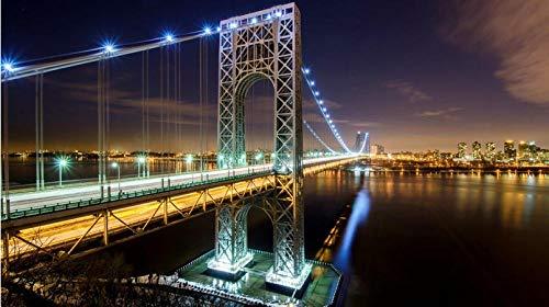 ClassicJP 1000 Stück Puzzle Hobbit George Washington Bridge Hobby Hauptdekoration DIY