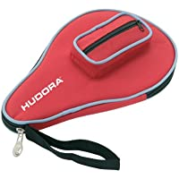 Hudora 76280 bolsa para raquetas de tenis de mesa - bolsas para raquetas de tenis de mesa (Negro, Rojo, Monótono, Cremallera)