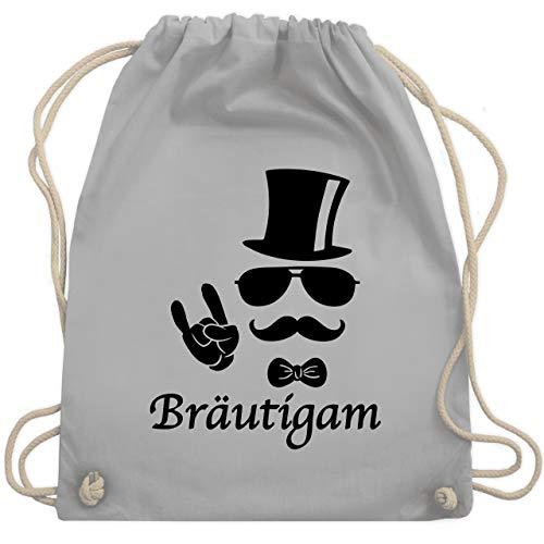 JGA Junggesellenabschied - Bräutigam Hipster Suit up - Unisize - Hellgrau - WM110 - Turnbeutel & Gym Bag