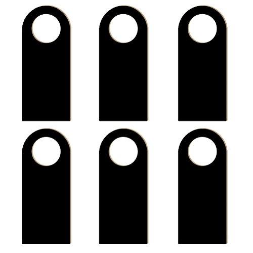 ultnice 6PCS Holz Tür Zeichen Kleiderbügel für zwei Seiten aus Holz Tafel Etikett Warnung für Hotel Tür Zeichen Dekoration Anhänger - Tür Seite Tabelle