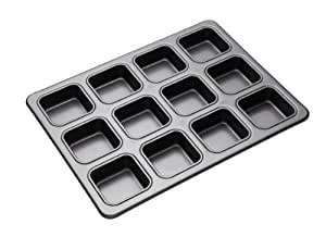 Master Class Non-Stick 12-Hole Brownie Tin with Dividers, 34 x 26 cm (13.5 x 10 inch)
