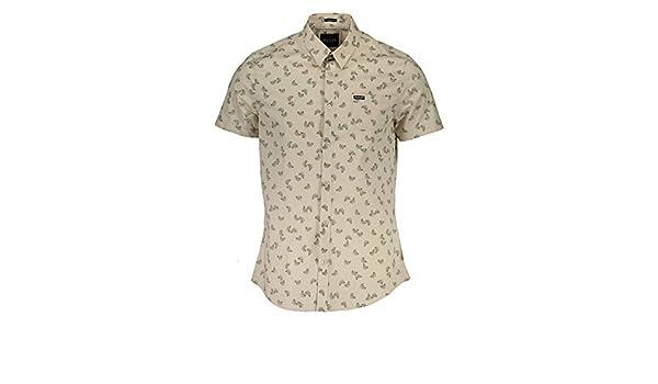Guess Camicia Uomo Verde Camicia Maniche Corte Uomo Verde 171359
