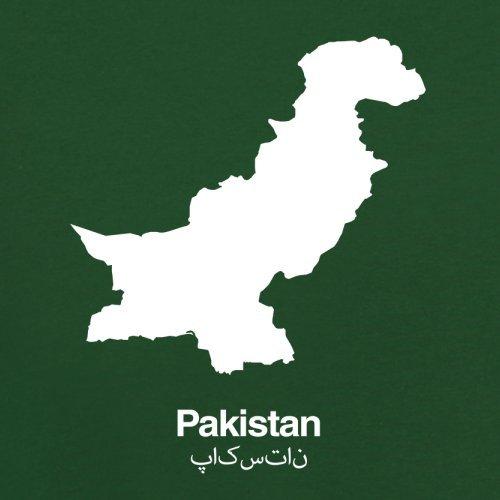 Pakistan / Islamische Republik Pakistan Silhouette - Herren T-Shirt - 13 Farben Flaschengrün