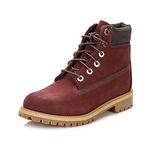 TIMBERLAND Damen 6 Inch Junior Boots rot 36 (Timberland Damen Boot-rot)
