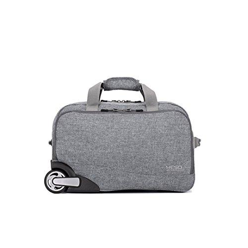 YESO Trolley Reisetasche Handgepäck 20-Zoll-32L Rollen Duffle Taschen Wasserdichte Oxford Koffer auf Rädern Handgepäck Unisex (Blue-grey) Blue-grey