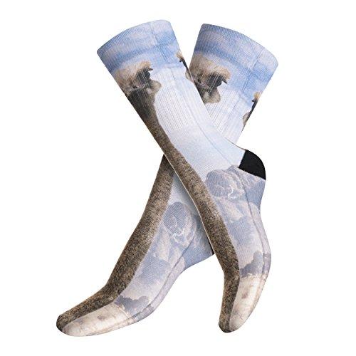 Funny Socks Company© Bedruckten Socken Top Sport Top 3D Print / Motiv / Design Eine Größe Frauen Girl Frühling Sommer 2017 (EMU SAFARI 40272) (Print Safari Top)