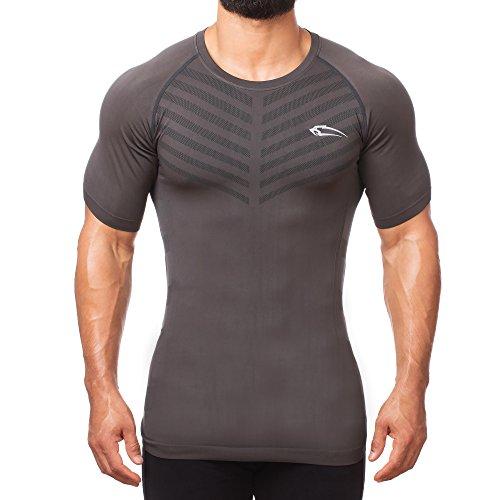 SMILODOX Herren Seamless T-Shirt Bolt, Farbe:Anthrazit, Größe:S