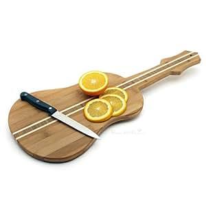 Bambou Planche à découper en forme de guitare