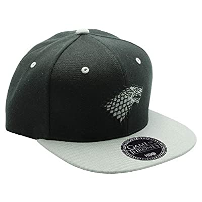 ABYstyle - Game of Thrones - Stark Snapback Cap - Black and Gey - One Size