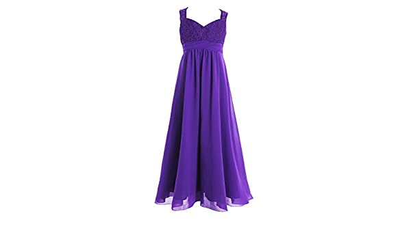 da5df2ccec3f iiniim Big Girls Junior Lace Flower Girl Dresses for Weddings ...