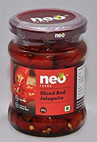 Neo Foods Sliced Red Jalapeno, 210 Grams - Pack of 12