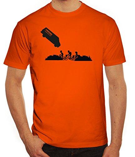 Mystery Serie Herren T-Shirt mit ST- Hawkins Van Motiv von ShirtStreet Orange